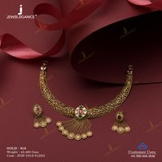 Jadtar Necklace Set jewellery for Women by jewelegance. ✔ Certified Hallmark Premium Gold Jewellery At Best Price Jewellery Sketches, Jewellery Designs, Gold Jewellery, Jewelry Sets, Fine Jewelry, Women Jewelry, Fashion Jewelry, Gold Mangalsutra Designs, Gold Ornaments