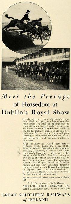 1936 Great Southern Railway Ireland Dublin's Royal Show | ORIGINAL ADVERTISING