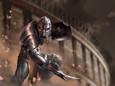 Image detail for -My Free Wallpapers - Fantasy Wallpaper : Monster Gladiator Gladiator Armor, Roman Gladiators, Dark Warrior, Cool Monsters, Great Movies, Deadpool, Cool Pictures, Batman, Darth Vader