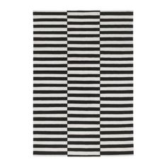 Living Room: this rug from Ikea can look stunning but takes a bit of courage! STOCKHOLM Rug, flatwoven - cm, striped black/off-white from IKEA Ikea Stockholm Rug, Stockholm 2017, Design Ikea, Cat Design, Medium Rugs, Striped Rug, Large Rugs, Rugs In Living Room, Bedroom Rugs