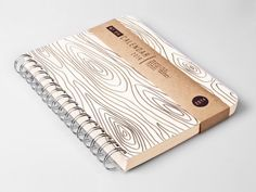 2014 Weekly Planner Calendar Diary Day Spiral A5 Wood Light This Day Planner - Valentine's day New Year Gift Idea