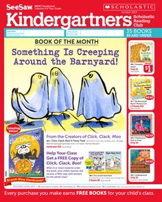 It's the October 2013 Scholastic Reading Club Flyer for Kindergartners!