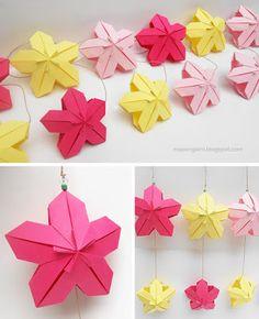 Több origami: virágok