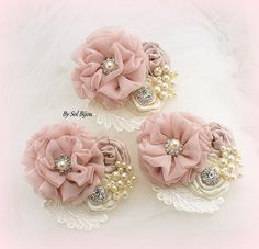 ***Made Upon Request- These corsages can be made as shown, or in any color combination. Like the rest of my creations, these pieces are my own style-