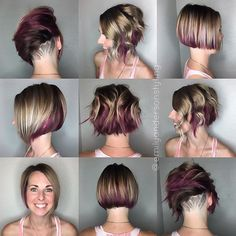 Still shots. Inspired by my mauve fleur-de-lis, she was ready for a fun new look. Now if only she didn't live 3 hours away.  #hairetching #hairpainting #haircut #behindthechair #undercut #shorthair #modernsalon #americansalon #nothingbutpixies #buzzcutfeed #emilyandersonstyling