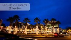 Nights of Lights St. Augustine is hailed as one of the top light displays in the world. Strolll through a downtown dripping in lights.