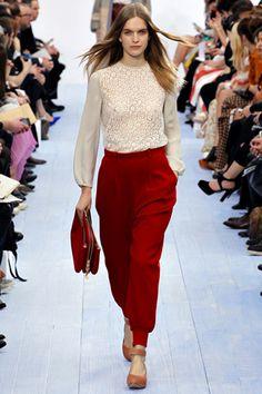 ★ Chloé fall 2012 ready-to-wear Runway in Paris #Chloe