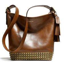 Coach- studded leather