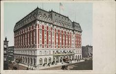 New York City: The Hotel Astor, Broadway and Street, circa 1904 New York Hotels, Vintage New York, New York City, Broadway, Louvre, Street, Building, Places, Travel