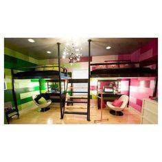 Cool teen girl bedroom for 2