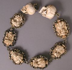 Rosary, German, Ivory, silver, and partial gilded mounts , 1500-1525