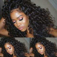 105.00$  Buy now - http://aliwi1.worldwells.pw/go.php?t=32745797418 - 100% Human Hair Wigs for African Americans Cambodian Virgin Hair Bouncy Curly Natural Cheap Hair Wig Full Lace Human Hair Wigs