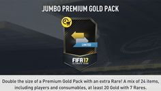 FIFA 17 Pack Offer: 15k Jumbo Premium Gold Packs are in the FUT Store until 5am UK! http://www.ultimateteam.co.uk/2016/07/13/fifa-17-happy-hour-times-fut/