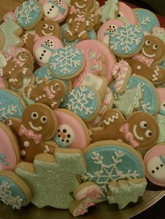 Holiday Assortment Sugar Cookies by thepinkmadeline on Etsy, $54.00