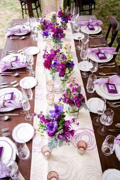 Wedding reception centerpiece idea; Featured Photographer: Jill Lauren Photography
