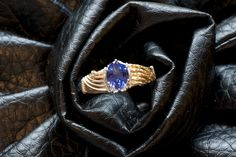 Tanzanite two-toned gold wire wrapped ring designed by Jennifer at Biebert Studios My Wife Is, Wire Wrapped Rings, Gold Wire, Some Times, Wire Wrapping, Studios, Sapphire, Jewelry Design, Inspiration