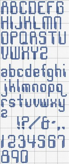 Use Robot Alphabet to evoke the feeling of computerized communication. Free cross stitch alphabet.