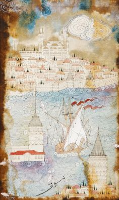 Galata'dan Sarayburnu'na Bakış Minyatür-Taner Alakuş Minyatür Atölyesi
