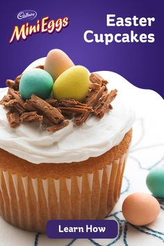 Easter Cupcakes, Easter Cookies, Easter Treats, Mini Cupcakes, Cupcake Recipes, Baking Recipes, Cookie Recipes, Dessert Recipes, Yummy Treats