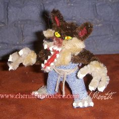 Werewolf Pipe Cleaner Miniature by ChenilleMacabre on Etsy! Buy him today!