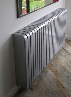 Glossy Silver Radiator Cover: industrial Living room by Cool Radiators? It's Covered! House Design, Radiators Modern, Home, Industrial Livingroom, Industrial Living Room Design, Vintage Industrial Living Room, Industrial Interiors, Best Radiators, Interior Design