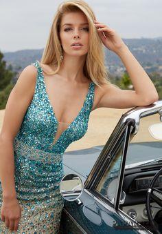 Prom Dress 98122 Ombre Jeweled Beading on Soft Net Prom Dresses 2016, Designer Prom Dresses, Formal Dresses, Beautiful Women, Bridal, Beading, Collection, Random, Google