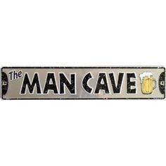 The MAN CAVE (Beer Mug) Metal Sign,$19.62   (Strikethrough MAN)