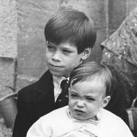 Princes Guillame and Félix of Luxembourg as children.