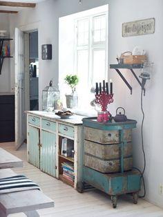 EN MI ESPACIO VITAL: Muebles Recuperados y Decoración Vintage: Muebles pintados { Painted furniture }