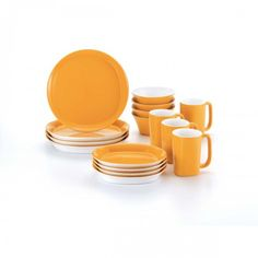 Add some color to your dinner table with the Rachael Ray 16-Piece Dinnerware Set, available at the Food Network Store.