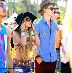Vanessa Hudgens and boyfriend Austin butler.  Coachella 2014 Style http://blog.lumierefashion.com/style/coachella-2014-week-1-style/