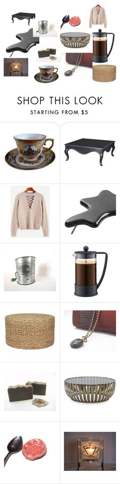 Coffee by alicejohnson-i on Polyvore featuring interior, interiors, interior design, home, home decor, interior decorating, Dilmos, Mitchell Gold + Bob Williams, Bodum and SkinCare