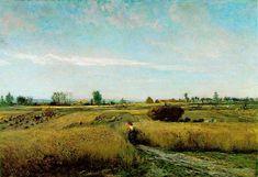 "Charles-François Daubigny (1817 – 1878) ""The Harvest"", 1851. [Barbizon School]"