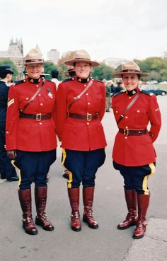 Canadian Mounties Ladies with a strong heart and spirit. :0)