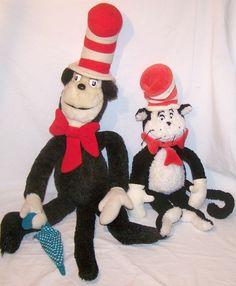 Dr. Seuss Stuffed Plush Animal Characters Vintage Lot Korea 1983 Manhattan Toys