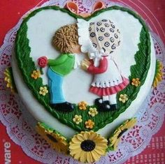 Holly hobbie/Sarah kay cake