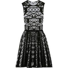 Mary Katrantzou Patterned wool-blend dress (2.130 BRL) ❤ liked on Polyvore featuring dresses, mary katrantzou, vestidos, short dresses, grey, knee length, grey mini dress, print dress, short grey dress and grey dresses