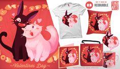 Valentines Day  #Jiji #Lili #Kiki #KikisDeliveryService #Ghibli #Fan #FanArt #Bread #Love #Valentines #ValentinesDay #Cats #Cat #Anime #Manga