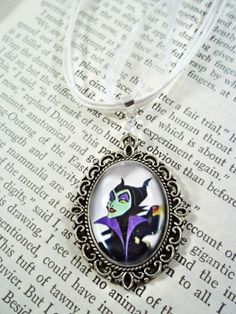 Maleficent necklace (with glass dome)