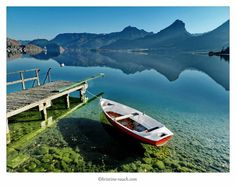 Wolfgangsee November 2012 November, Boat, Places, Pictures, Scenery Photography, Water, November Born, Dinghy, Boats