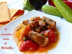 Il Pomodoro Rosso di MAntGra: Pasticcio di verdure e salciccia