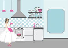 Como os posts de Download  e DIY  são os que mais fazem sucesso aqui no blog, hoje trouxe para vocês mais algumas ideias de convites para c... Kitchen Shower, Cupcake Party, Bridal Shower Invitations, School Projects, Vintage Kitchen, Vintage Inspired, Toddler Bed, Kids Rugs, Download