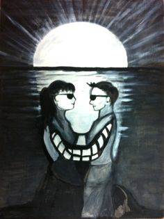 ambiguous illusions | Here is the first stimulus, a painting by Emma. found at: psychologyrats.edblogs.or