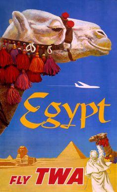 Vintage Travel Poster Egyptian Camel 8x13 PopMount Ready to Hang FREE SHIPPING. $35.00, via Etsy.
