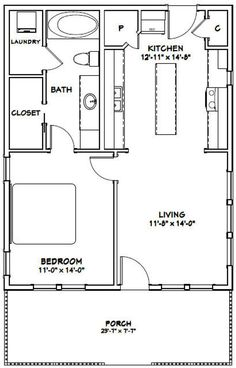 PDF house plans, garage plans, & shed plans. Bungalow Floor Plans, Small House Floor Plans, Cottage Floor Plans, Cabin Floor Plans, Kitchen Floor Plans, Guest Cottage Plans, Small Bathroom Floor Plans, Kitchen Flooring, 1 Bedroom House Plans