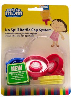No Spill Bottle Cap System: Spill Proof Lids For Water And Juice Bottles.