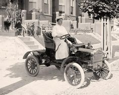 You are looking at an inspiring photograph of Small Car. It was created around 1905.     The illustration presents Henry, Guy, Mrs. in Auto.