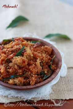 Mishmash !: Unakka-meen Chathachathu – Crushed Dried Fish spiced up with pearl onions & dry red chilly