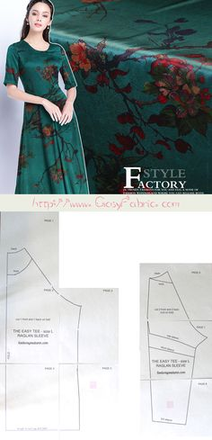 The easy tee swing dress free sewing pattern & tutorial Sewing Patterns Free, Free Sewing, Silk Fabric, Swing Dress, Diva, Tees, Dresses, Vestidos, T Shirts