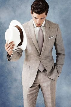 All men look handsome in a well tailored suit! Try Calvin Klein, Van Heusen or Banana Republic. www.outletsanthem.com